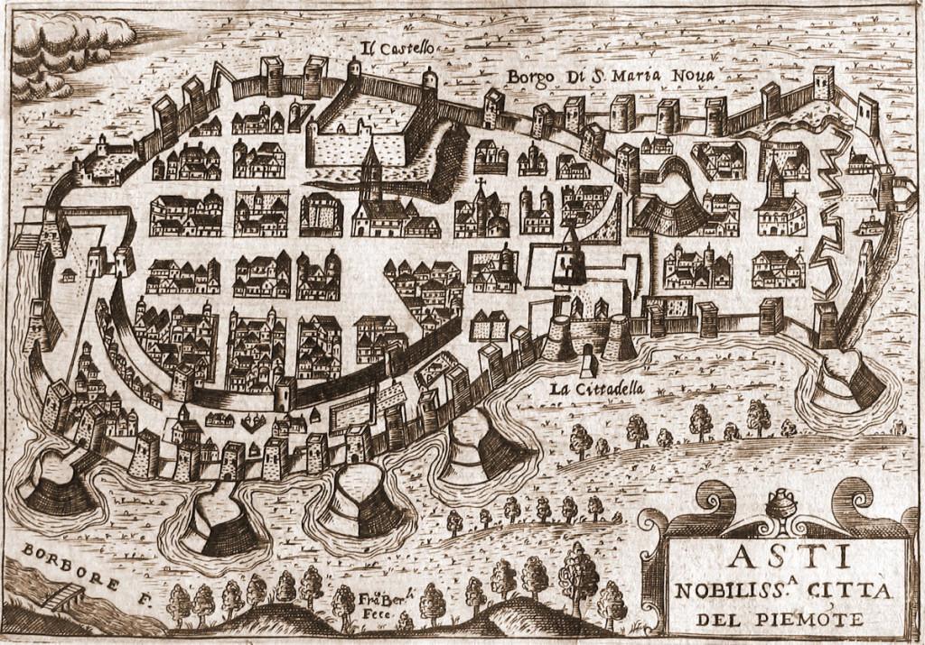 Francesco Bertelli - Pianta di Asti, 1629