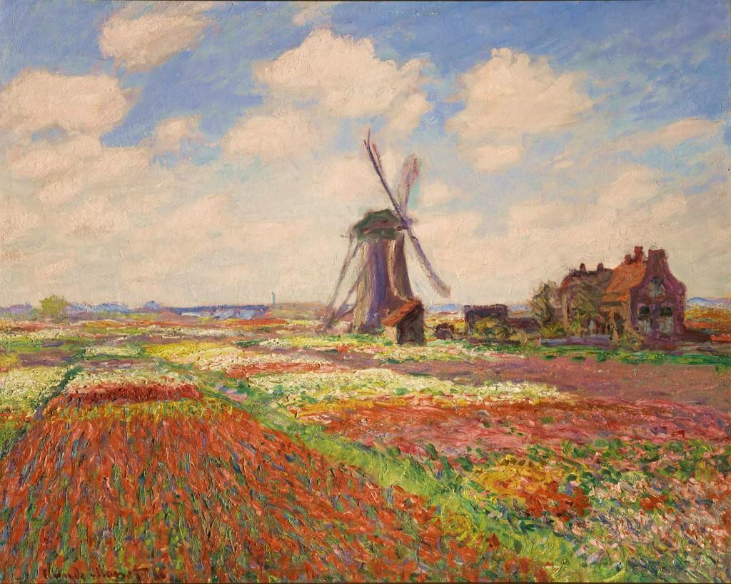 Monet in mostra alla GAM di Torino collezione Museo Orsay - Champ des tulipes en Hollande
