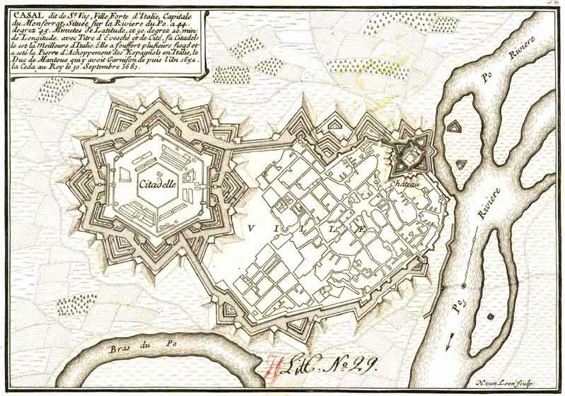 Casale Monferrato Mappa Storica