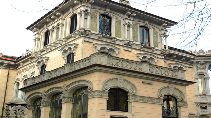 Il villino Raby, una delle opere realizzate da Pietro Fenoglio a Torino