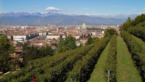 Torino vista dai vigneti di Villa della Regina