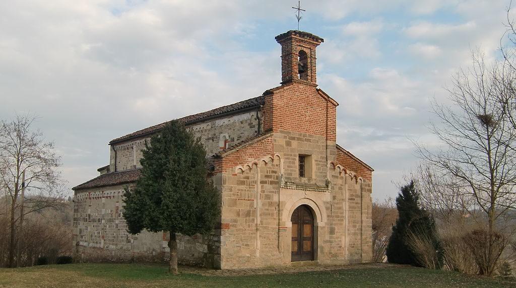 La pieve di San Secondo, sulle colline intorno a Cortazzone