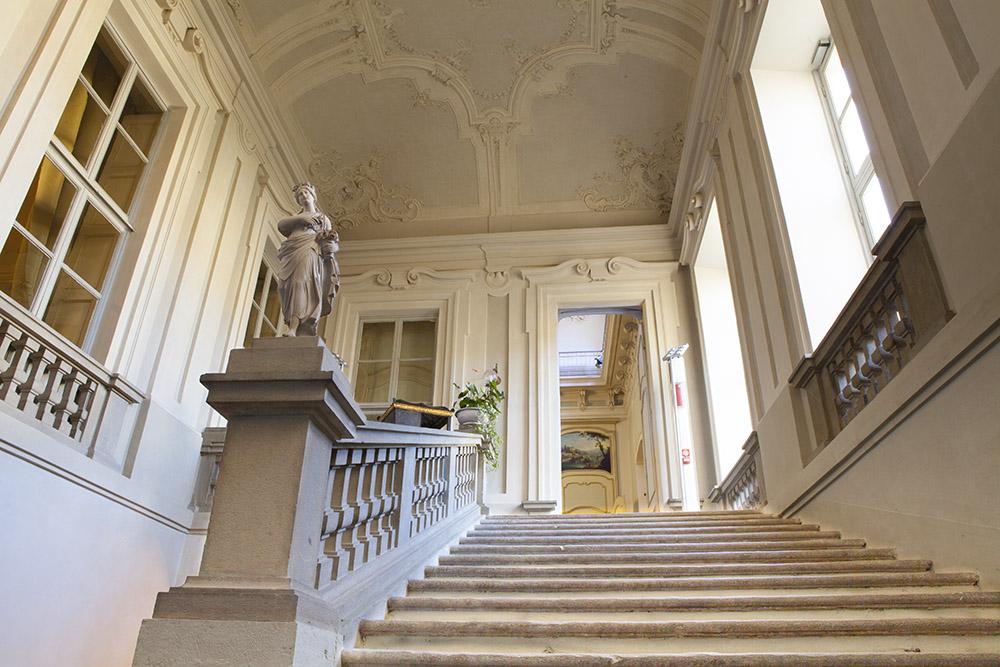 Lo spettacolare scalone di Palazzo Mazzetti